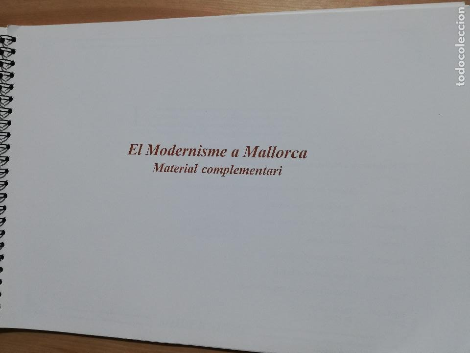 Coleccionismo: EL MODERNISME A MALLORCA. MATERIAL COMPLEMENTARI (GOVERN BALEAR) - Foto 2 - 223411641