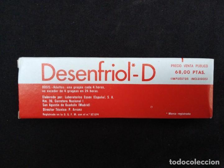Coleccionismo: caja grajeas DESENFRIOL años 80 nueva sin uso. - Foto 2 - 236101340