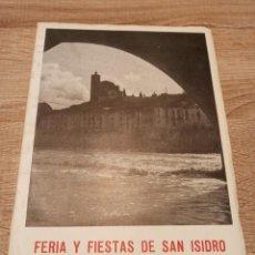 Coleccionismo: BALAGUER PROGRAMA OFICIAL FIESTAS DE SAN ISIDRO 1957. Lote 224338878