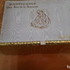 Coleccionismo: ANTIGUA CAJA DE MANTECADOS NTRA. SRA. DE LA ASUNCION. Lote 224391837