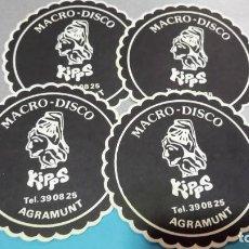 Coleccionismo: POSAVASOS MACRO-DISCO KIPPS 1969. AGRAMUNT (LLEIDA). Lote 224683802