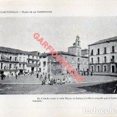 Colecionismo: LÁMINA FOTOGRÁFICA, 1915, VILLACARRILLO, PLAZA DE LA CONSTITUCION, 19X13 MM. Lote 224717556