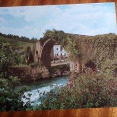 Coleccionismo: CANGAS DE ONIS, PUENTE ROMANO. FOTO ARCHIVO G.E.A. 21X17,5 CM.. Lote 224871785