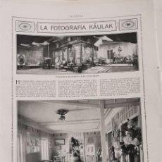 Coleccionismo: HOJA DE PUBLICACION, 1920, LA FOTOGRAFÍA KÂULAK, 27X35 MM. Lote 224906347