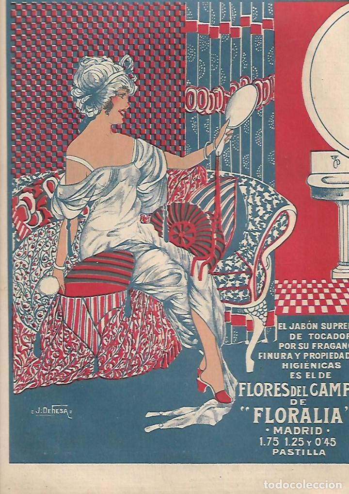AÑO 1919 RECORTE PRENSA PUBLICIDAD PASTILLA DE JABON TOCADOR FLORES DEL CAMPO PERFUMERIA FLORARIA (Coleccionismo - Laminas, Programas y Otros Documentos)
