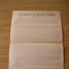 Coleccionismo: MANIFIESTO CARLISTA, LOS REQUETES A LA CONCIENCIA ESPAÑOLA, VALENCIA 1956. Lote 225461488