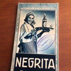 """Coleccionismo: LIBRETA PUBLICITARIA """"RON NEGRITA"""" AÑOS 30-40. Lote 225487185"""