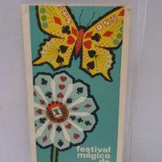 Coleccionismo: PROGRAMA FESTIVAL MAGICO DE PRIMAVERA CEDAM 1966 ESCASO. Lote 225560895