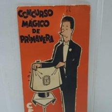 Coleccionismo: PROGRAMA TROQUELADO CONCURSO MAGICO DE PRIMAVERA CEDAM 1964 ESCASO. Lote 225562295