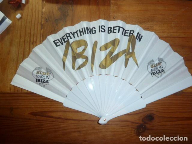 Coleccionismo: Abanico publicidad Blue Marlin Ibiza - Foto 2 - 225930340