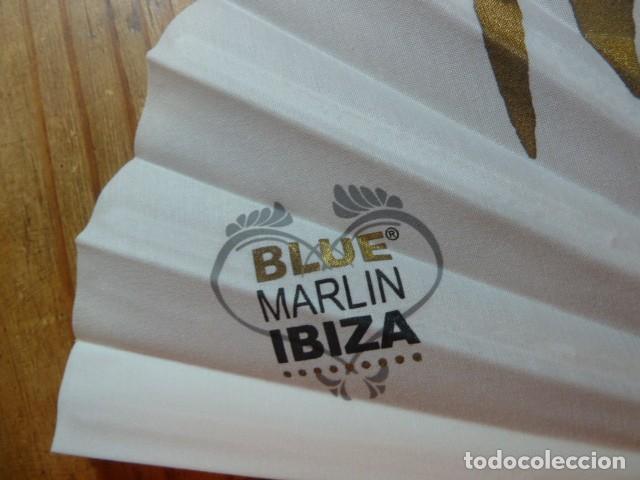 Coleccionismo: Abanico publicidad Blue Marlin Ibiza - Foto 5 - 225930340