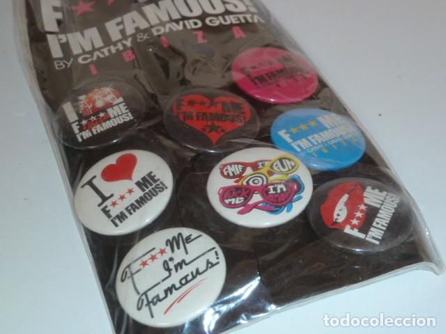 Coleccionismo: Blister chapas fiesta F***me, im famous! David Guetta. Ibiza - Foto 4 - 225933195