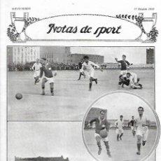Coleccionismo: AÑO 1919 RECORTE PRENSA DEPORTES FUTBOL PARTIDO BEMFICA DE LISBOA Y EL REAL MADRID. Lote 225995643