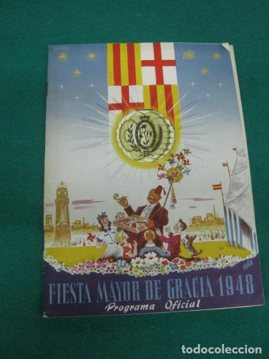 FIESTA MAYOR DE GRACIA 1948 PROGRAMA OFICIAL..BARCELONA. (Coleccionismo - Laminas, Programas y Otros Documentos)