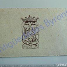Coleccionismo: INVITACIÓN. CABILDO INSULAR DE LAS PALMAS. VISITA DE FRANCO. 25 DE OCTUBRE DE 1950. Lote 227552260