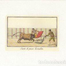Collectionnisme: REPRODUCCION DE GRABADOS DE TOROS. SUERTE DE PASAR LA MULETA. 21,4X17 CM. LAMTOR-022. Lote 227832805