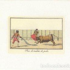 Collectionnisme: REPRODUCCION DE GRABADOS DE TOROS. PASE DE MULETA DE PECHO. 21,4X17 CM. LAMTOR-023. Lote 227832985