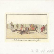 Collectionnisme: REPRODUCCION DE GRABADOS DE TOROS. MODE DE SACAR AL TORO MUERTO. 21,4X17 CM. LAMTOR-024. Lote 227833095