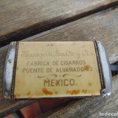 Coleccionismo: RARA CAJA PARA GUARDAR CERILLAS O SIMILAR LA TABACALERA MEXICANA BASAGOITI ZALDO Y CIA MEXICO. Lote 227868875