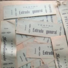 Coleccionismo: LOTE DE MAS DE 20 ANTIGUAS ENTRADAS DE TEATRO. Lote 227978540