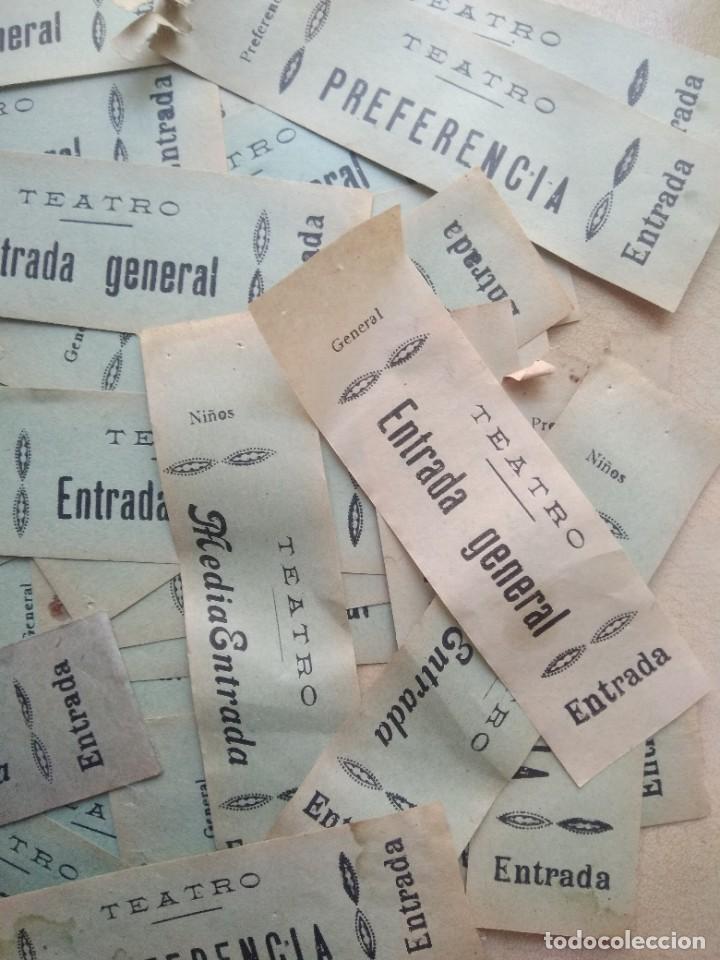 Coleccionismo: Lote de mas de 20 antiguas entradas de teatro - Foto 2 - 227978540