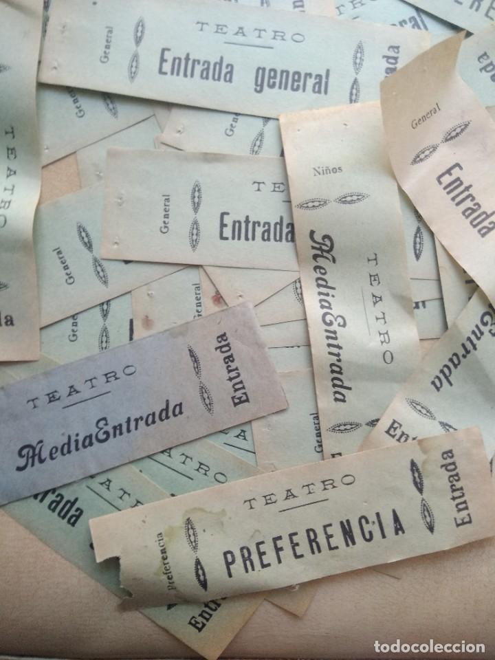 Coleccionismo: Lote de mas de 20 antiguas entradas de teatro - Foto 3 - 227978540