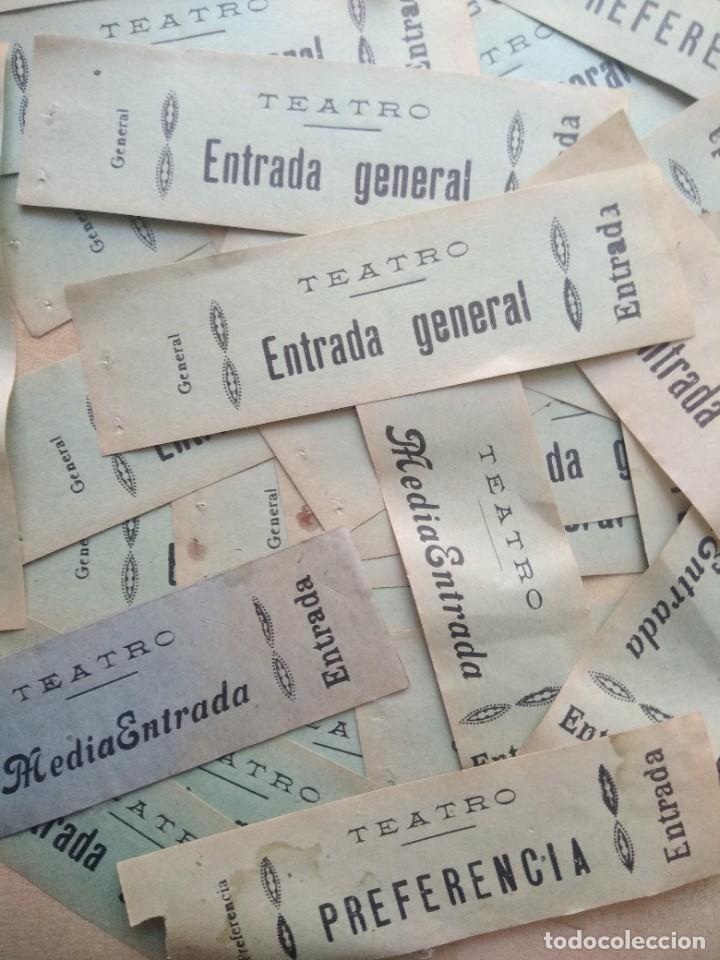 Coleccionismo: Lote de mas de 20 antiguas entradas de teatro - Foto 4 - 227978540