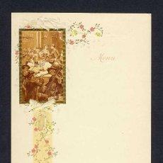 Coleccionismo: MENU MODERNISTA EN RELIEVE DE CHAMPAGNE DELBECK. Lote 228188875