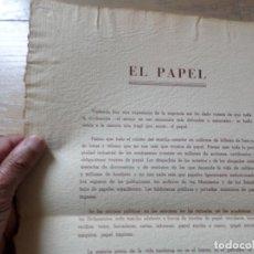 Coleccionismo: LAMINA EL PAPEL GIOVANNI PAPINI. Lote 228911838