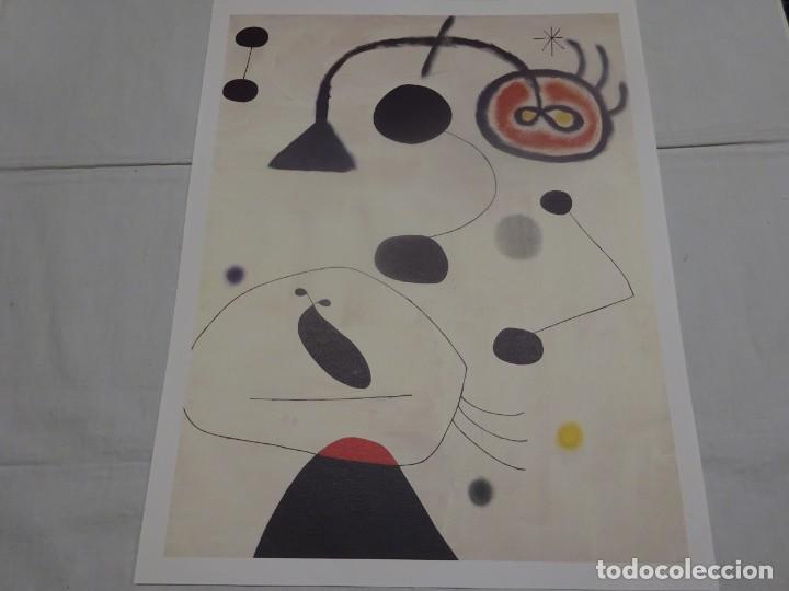 JOAN MIRÓ, LAMINA COLECCIÓN LOS TESOROS DEL PABELLON DE ESPAÑA. 43X34CMS, EL MUNDO 1992 (Coleccionismo - Laminas, Programas y Otros Documentos)