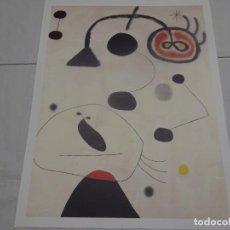 Coleccionismo: JOAN MIRÓ, LAMINA COLECCIÓN LOS TESOROS DEL PABELLON DE ESPAÑA. 43X34CMS, EL MUNDO 1992. Lote 229101445