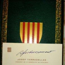 Coleccionismo: FIRMA JOSEP TARRADELLAS - LLIBRE DEL CONSOLAT MAR - FACSIMIL DE L ANY 1523 - BARCELONA 1978. Lote 229227285