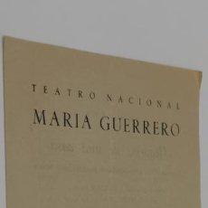 Colecionismo: TREATO NACIONAL MARIA GUERRERO TEMPORADA 1948-1949 HISTORIAS DE UNA CASA DIRECCION LUIS ESCOBAR. Lote 229795530
