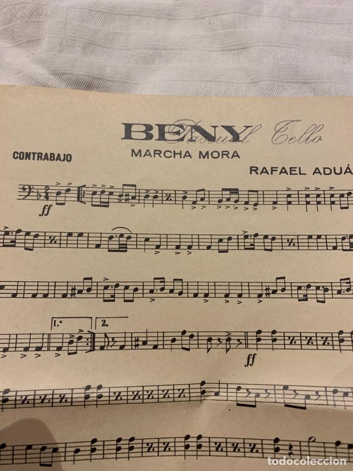 Coleccionismo: BENY Marcha mora Rafael Aduá, saxofón, contrabajo y trompeta - Foto 2 - 230728880