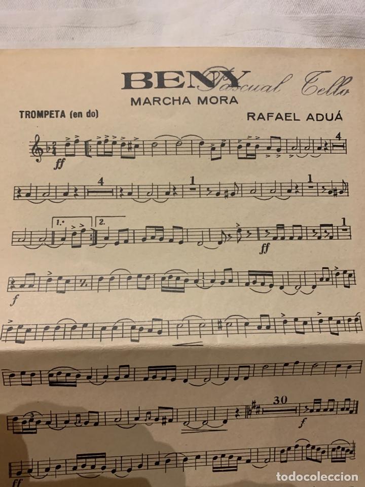 Coleccionismo: BENY Marcha mora Rafael Aduá, saxofón, contrabajo y trompeta - Foto 3 - 230728880
