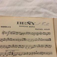 Coleccionismo: BENY MARCHA MORA RAFAEL ADUÁ, SAXOFÓN, CONTRABAJO Y TROMPETA. Lote 230728880