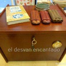 Coleccionismo: LOTE PARA FUMADORES DE PUROS. CAVA DE PUROS-LIBRO DAVIDOFF-PURERAS..... Lote 230893545
