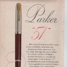 Coleccionismo: ANUNCIO PUBLICIDAD ESTILOGRAFICAS PARKER. Lote 231722765