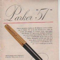 Coleccionismo: ANUNCIO PUBLICIDAD ESTILOGRAFICAS PARKER - WHISKY SEAGRAMS. Lote 231723085
