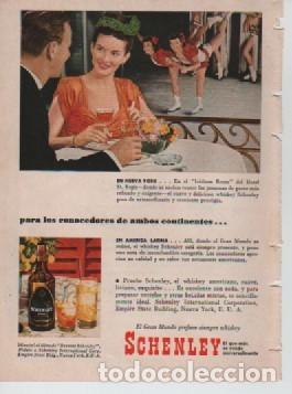 Coleccionismo: ANUNCIO PUBLICIDAD ESTILOGRAFICAS EVERSHARP - WHISKEY SCHENLEY - Foto 2 - 231723210