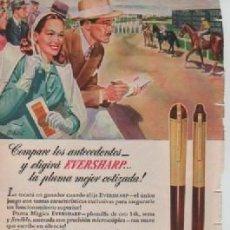 Coleccionismo: ANUNCIO PUBLICIDAD ESTILOGRAFICAS EVERSHARP - LUBRICANTES GARGOYLE. Lote 231747500