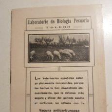 Coleccionismo: LIBRILLO DE LABORATORIO DE BIOLOGIA PECUARIA TOLEDO. Lote 232347750