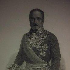 Coleccionismo: BALDOMERO ESPARTERO CARLISTA CARLISMO GRABADO RETRATO SIGLO XIX. Lote 232561002