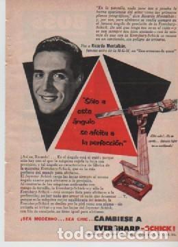 ANUNCIO PUBLICIDAD CUCHILLAS DE AFEITAR EVERSHARP-CAFETERAS UNIVERSAL (Coleccionismo - Laminas, Programas y Otros Documentos)