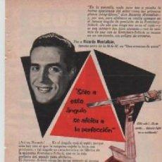Coleccionismo: ANUNCIO PUBLICIDAD CUCHILLAS DE AFEITAR EVERSHARP-CAFETERAS UNIVERSAL. Lote 232935400