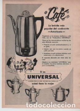 Coleccionismo: ANUNCIO PUBLICIDAD CUCHILLAS DE AFEITAR EVERSHARP-CAFETERAS UNIVERSAL - Foto 2 - 232935400