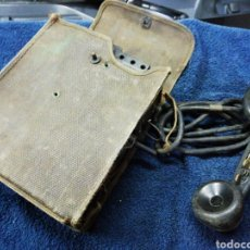 Coleccionismo: TELÉFONO DE CAMPAÑA PORTÁTIL MILITAR. Lote 232939495