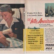 Coleccionismo: ANUNCIO PUBLICIDAD AEROLINEAS PANAGRA PAA-TRACTORES FORD-ESTILOGRAFICA EVERSHARP. Lote 232942310