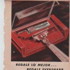 Coleccionismo: ANUNCIO PUBLICIDAD MAQUINA DE AFEITAR EVERSHARP-TAMPONES TAMPAX-ALKA SELTZER. Lote 233319120