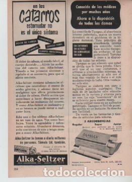 Coleccionismo: ANUNCIO PUBLICIDAD MAQUINA DE AFEITAR EVERSHARP-TAMPONES TAMPAX-ALKA SELTZER - Foto 2 - 233319120